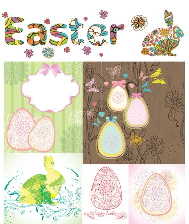 Easter cards set, background illustration Stock Vector - 12799700