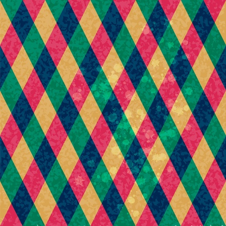 geometrical shapes: Colorful Rhombus. Seamless pattern, background illustration