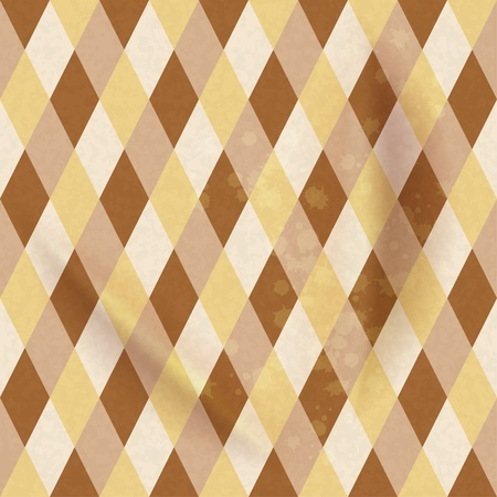 checked: Colorful Rhombus. Seamless pattern, background illustration
