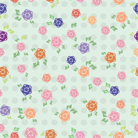 Beautiful floral seamless background, illustration Stock Vector - 12934383