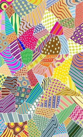 textile image: ornate colorful pattern, beautiful illustration