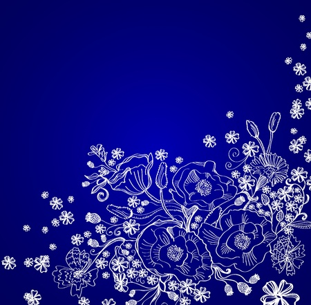 Hand Drawn floral background, beautiful  illustration Vector