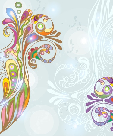 Beautiful colorful floral background, illustration Vector