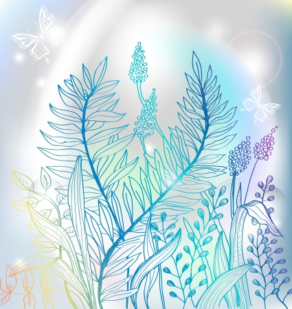 Romantic colorful flower background for design, hand-drawing illustration