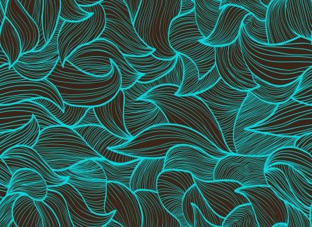 Resumen dibujado a mano de fondo, patrón transparente con las ondas pueden ser utilizados para fondos de escritorio, patrones de relleno, de fondo página web de texturas de superficie, Foto de archivo - 13787388