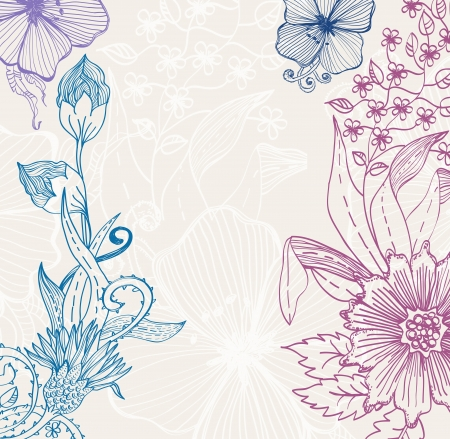Beautiful floral background, illustration Vector