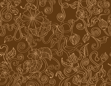 natural floral seamless background, illustration Vector