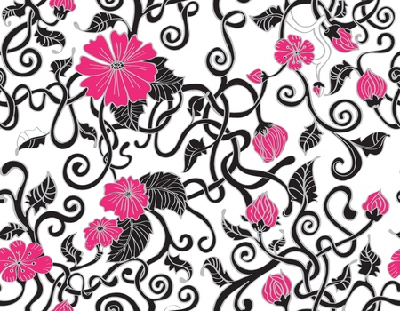 Seamless floral background, illustration Vector