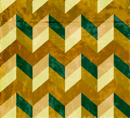 Seamless chevron pattern with old paper texture, beautiful illustration Vector
