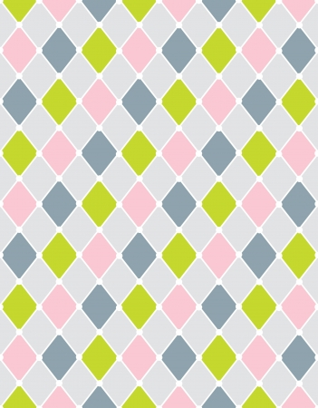 Colorful calm Rhombus  Seamless pattern,background illustration Vector