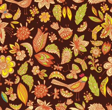 Beautiful natural seamless background, illustration Vector