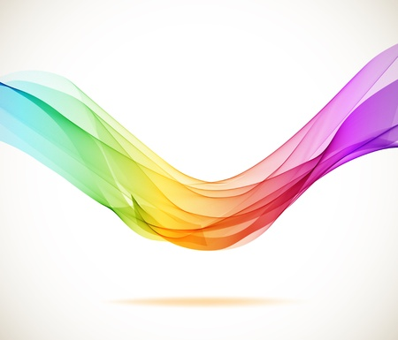 Abstract colorful background with wave, illustration Vector