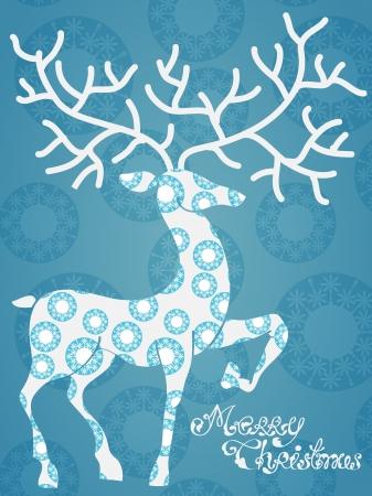 Christmas deer with Merry Christmas, beautiful illustration Stock Vector - 15306304