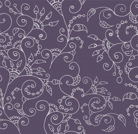 Stylish seamless floral background, illustration for design Vector