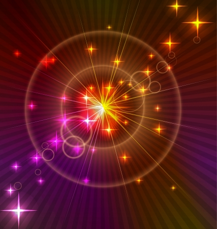 Abstract light Background with stars and circles Vector