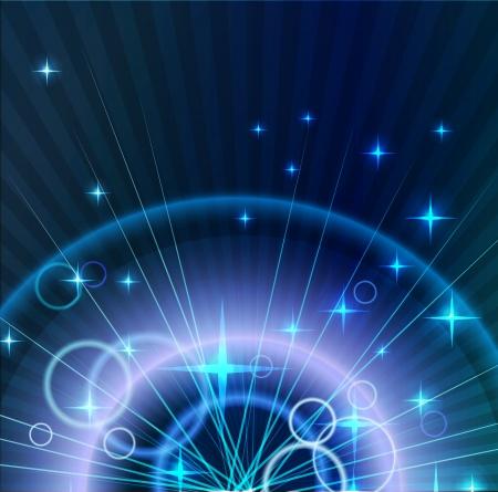 fiestas electronicas: Resumen Antecedentes La luz de estrellas y círculos Vectores