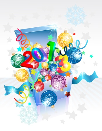 Open explore gift box for New Year, Christmas design Stock Vector - 15863782