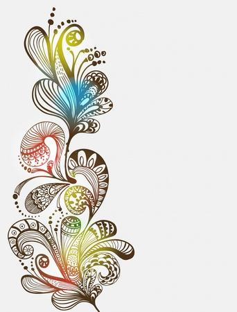 decor graphic: Romantico blu floral background, illustrazione per San Valentino di design