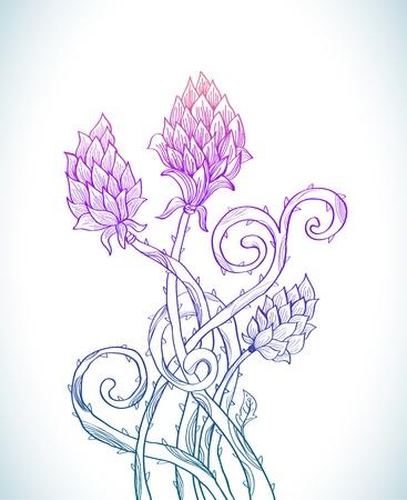 prickles: Bellissimo sfondo floreale per la progettazione prickle vacanza