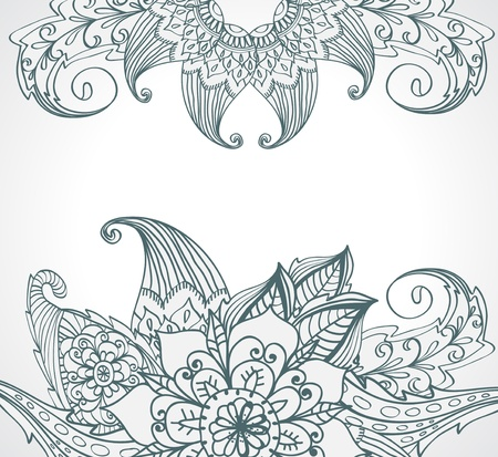 Floral bright doodle illustration for your design Stock Vector - 16899249