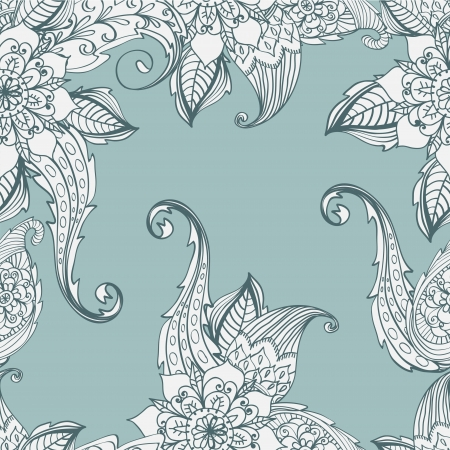 Seamless floral background, hand drawn illustration for design Stock Vector - 16899254