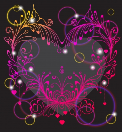 Floral Valentine background with heart for design Stock Vector - 17100438