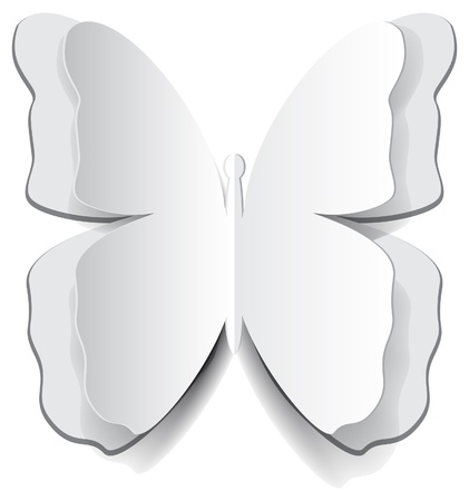 Paper origami butterfly for design Stock Vector - 17100402