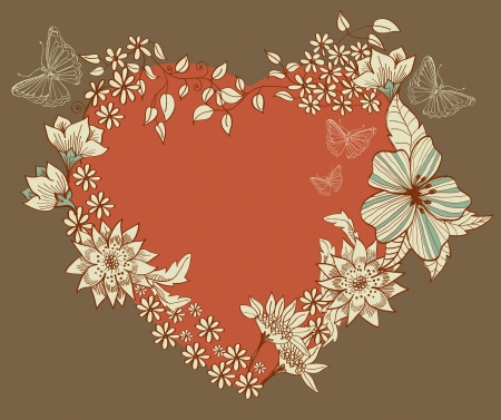 Floral Heart, Valentine background Stock Vector - 17141572