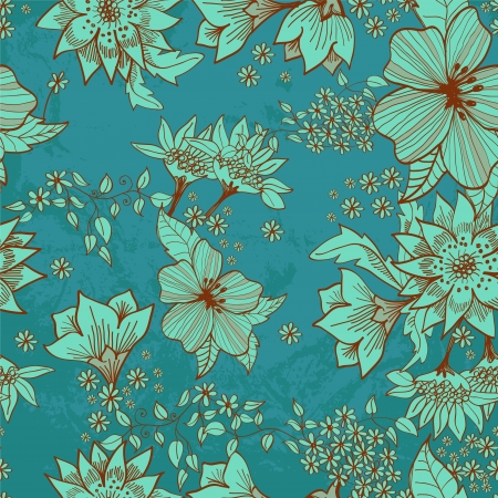 Seamless tender floral background for design Stock Vector - 17141578