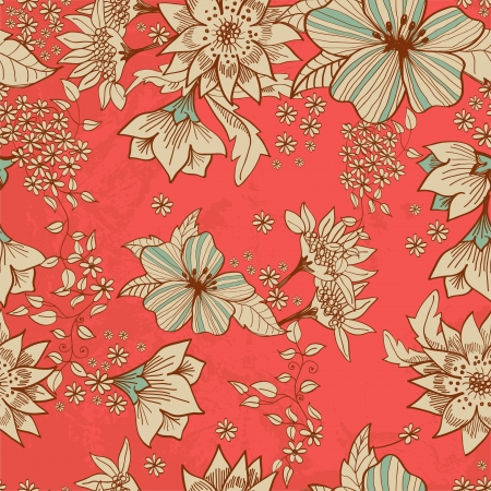 Seamless tender floral background for design Stock Vector - 17141577