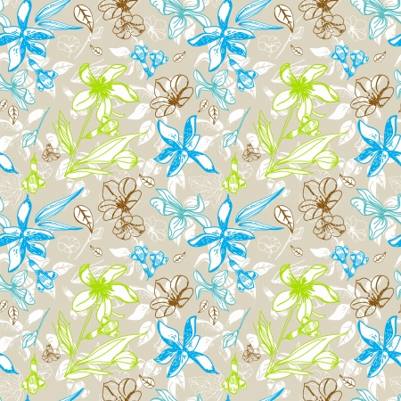 seamless floral pattern for design Stock Vector - 17209757