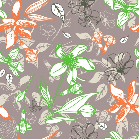 seamless floral pattern for design Stock Vector - 17209759