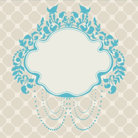 Vintage Frame floral label for design Stock Vector - 17474240
