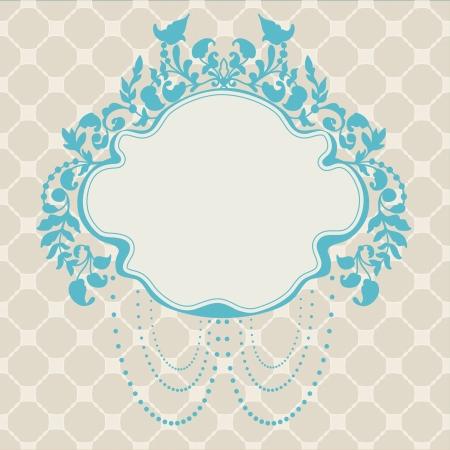 Vintage Frame floral label for design Stock Vector - 17474240