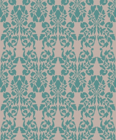 Vintage floral seamless background for design Vector