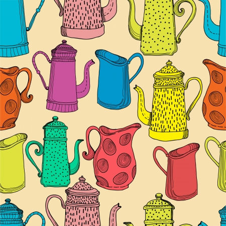 milk jugs: Jugs, seamless pattern for design