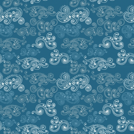flowing hair: Seamless background with clouds, pattern for design