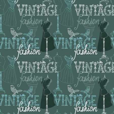 dummies: Seamless Vintage background with retro dummy for design Illustration