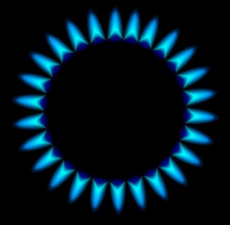 Gas stove burner illustration over dark Vector