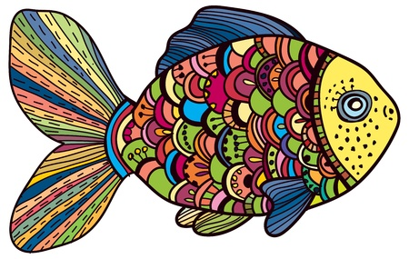 Beautiful color Fish illustration Stock Vector - 20361543