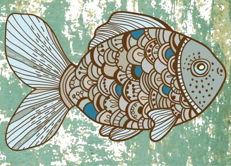 fish form: Beautiful color Fish illustration