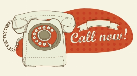 Retro telephone and place for text Stock Vector - 21075213