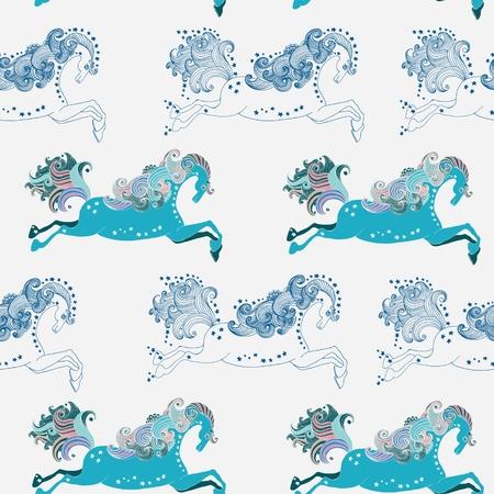 springpaard: Naadloze Mooie kleur springpaard, symbool 2014 nieuw jaar voor vakantie ontwerp