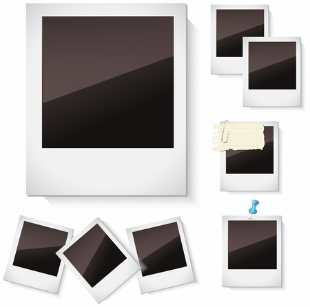 photo paper: Photo frames collection isolated on white background for you Design