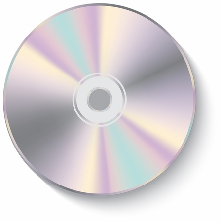 optical disk: CD disk isolated on White