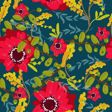 Seamless floral background for design Vector