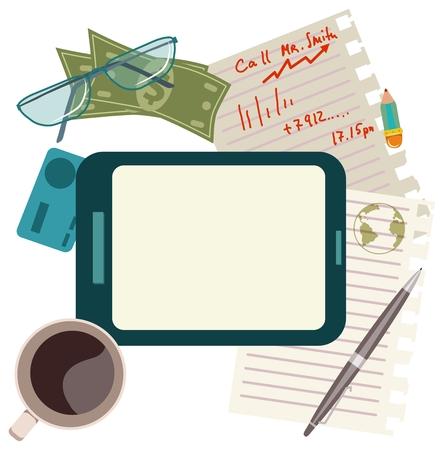 good break: Iconos de concepto Dise�o plano de la ma�ana de negocios o descanso para comer, bueno para los servicios web y m�viles y aplicaciones de dise�o, SEO, redes sociales o la publicidad en Internet