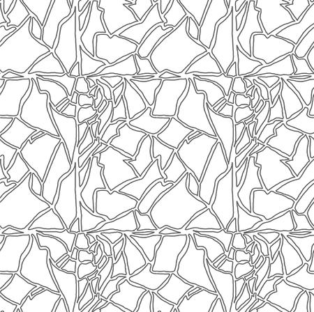 яичная скорлупа: Бесшовные рисованной картины с яичной скорлупы текстуры - черно-белые