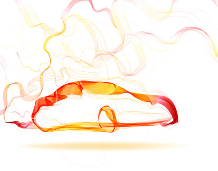 aerodynamic: Abstract car color lines over white Illustration