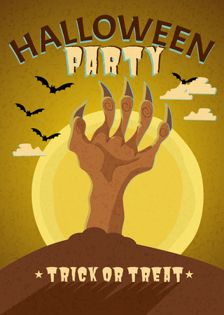 Happy Halloween Poster, Holiday illustration Vector